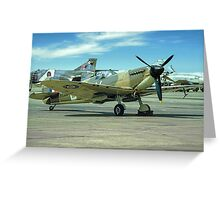 Spitfire IIa P7350 and Phantoms Greeting Card
