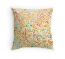 3d UP-CLOSE,  multicolored  pastel, drizzle pattern Throw Pillow