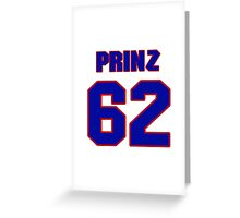 National baseball player Bret Prinz jersey 62 Greeting Card