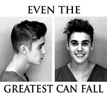 EVEN THE GREATEST CAN FALL - Justin Bieber (T-shirts, hoodies..., laptop skins, stickers) by kidzzle