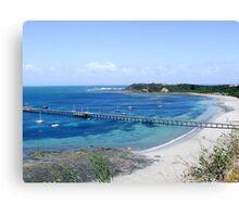 Flinders pier, Mornington peninsula, Australia Canvas Print
