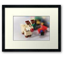 Lego Rudolf the Red Nose Reindeer Framed Print