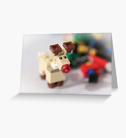 Lego Rudolf the Red Nose Reindeer Greeting Card