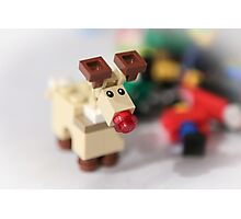 Lego Rudolf the Red Nose Reindeer Photographic Print