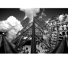 Louvre Pyramid (Symmetry) Photographic Print