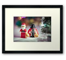 Santa and Darth Vader Framed Print