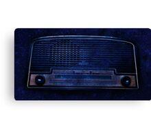 BLUE RADIO Canvas Print