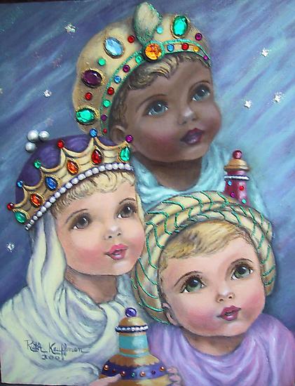 """""""Awestruck Cherubs"""" by Ruth Kauffman"""
