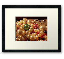 Precious Pearls Framed Print
