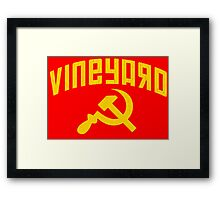 Vineyard Hammer & Sickle Framed Print