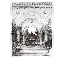 Arches in the Park by RD Riccoboni Poster