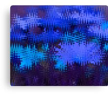 Waves in Blue Canvas Print