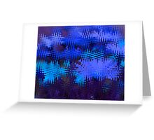Waves in Blue Greeting Card
