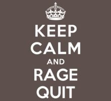 Keep Calm and Rage Quit Kids Clothes