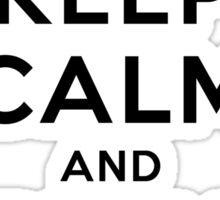 Keep Calm and Play Tennis Sticker