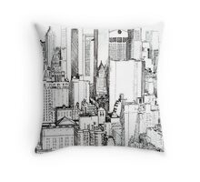Big Apple Slice - Midtown Manhattan Throw Pillow