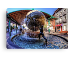 Fountain at the Bus Station Canvas Print