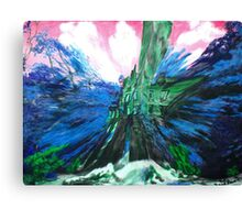 """SWOOSH--SPLAT!"" Canvas Print"