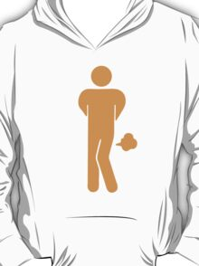 Funny Farting Restrooms / Toilet Sign T-Shirt