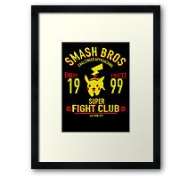Saffon city Fighter Framed Print