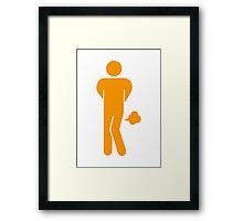 Funny Farting Restrooms / Toilet Sign Framed Print