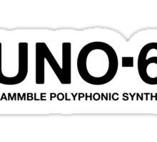 Juno 60 Synth black Sticker