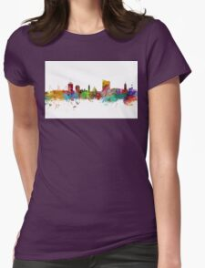 Cardiff Wales Skyline Womens Fitted T-Shirt