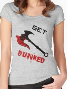Darius Get Dunked Women's Fitted Scoop T-Shirt