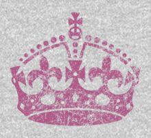 Distressed Grunge Keep Calm Crown One Piece - Short Sleeve