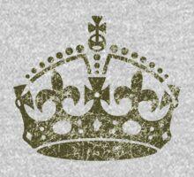 Distressed Grunge Keep Calm Crown Kids Tee