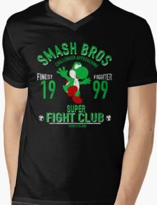 Yoshi Island Fighter Mens V-Neck T-Shirt