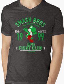 Yoshi Island Fighter Mens V-Neck T-Shirt
