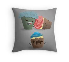 Zombie Cupcakes on the Loose Throw Pillow