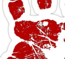 Red hand Sticker