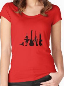 Guns and guitars Women's Fitted Scoop T-Shirt