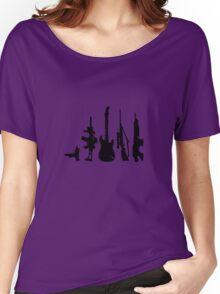 Guns and guitars Women's Relaxed Fit T-Shirt