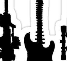 Guns and guitars Sticker