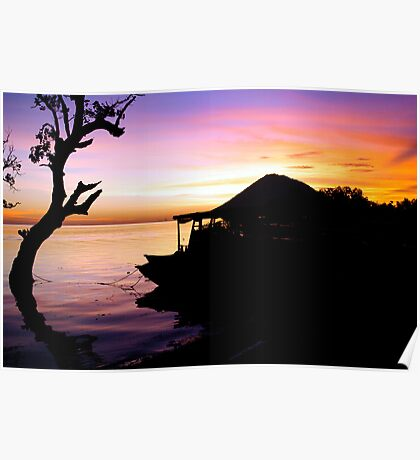 Sunset from Bunaken, Indonesia Poster