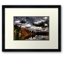 Storm in the Dells Framed Print