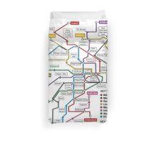 Geeks' Tube Map Duvet Cover