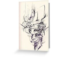 Contact ballpoint pen Greeting Card
