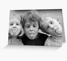 Give us a kiss Mum ! Greeting Card