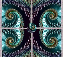 PLUM FRACTALS modern art decor and gifts by ackelly4