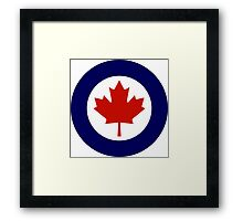 Roundel of the Royal Canadian Air Force Framed Print