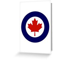 Roundel of the Royal Canadian Air Force Greeting Card