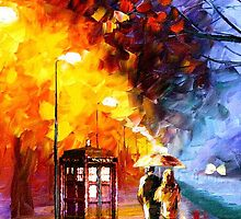 Starry Night Tardis Art Painting by SecondArt