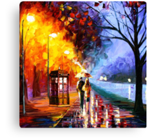 Starry Night Tardis Art Painting Canvas Print