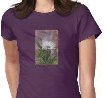 Sketchy Daisy In Mother Of Pearl Womens Fitted T-Shirt