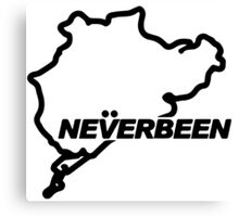 Never Been Canvas Print