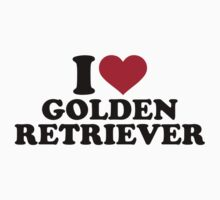 I love Golden Retriever One Piece - Short Sleeve